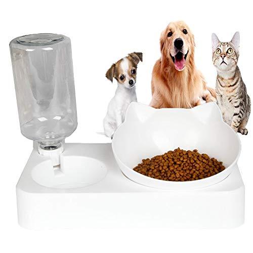 Bebedero Para Mascotas Para Proteger El Cuello, Llenado AutomáTico De Agua, Cuenco Doble Para Perros, Cuenco Para Gatos, Bebedero Para Gatos/Perros, Dispensador Adecuado Para Animales PequeñOs