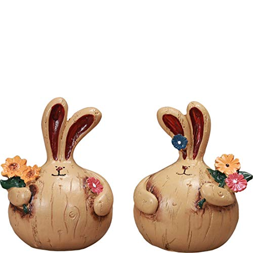 DANJIA Viviendo Conejo Decoración de la Sala Principal del Vino gabinete gabinete de la TV Decoración Creativa Grasa Regalo Mobiliario de Pequeños Animales