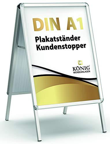 König Werbeanlagen -  Plakatständer Alu -