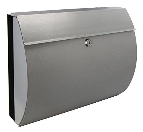 Buzón de acero inoxidable–Buzón–con compartimento para el periódico Candado con 2llaves–Grosor del...