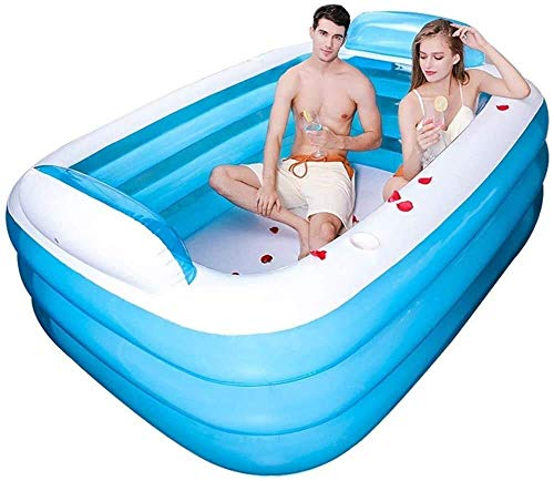 Geng Planschbecken über dem Boden aufblasbarer Pool, die Wanne ist gefaltet, verdickte Kunststoffwanne für alle Kinder und Erwachsene