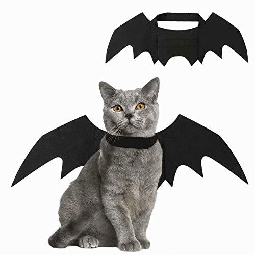 Gaocheng Mascota Perro Gato Traje de alas de Disfraz Vampiro de Halloween Cosplay Prop Disfraz de murciélago Accesorios de Halloween ala de murciélago Without Bell