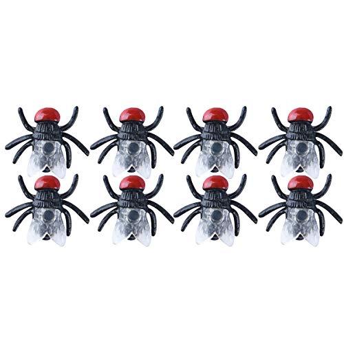 TOYANDONA 100 Stück Fliegen-Simulierte Insekten-Streck, Spielzeug für Kinder, lustiges Scherzspielzeug für Halloween, Party-Zubehör (schwarz)