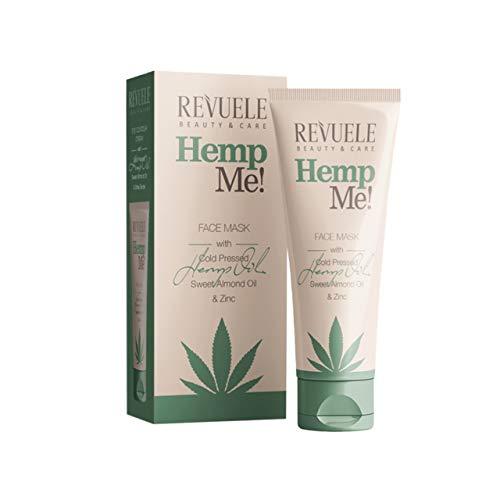Revuele, Hemp Me Bio 100 prozent Reine Natürliche Gesichtsmaske mit Kaltgepresstem Hanf Süßes Mandelöl Zink Entfernt Tote Hautzellen, One, 80 milliliter