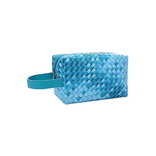 ZWWZ Kosmetikbeutel Reisen Neue Mini-Mode Portable Storage-Beutel-Spielraum Gradient Weave Kosmetik Make-up-Speicher-Beutel-Kaffee- HAIKE (Color : Green, Size : Size)