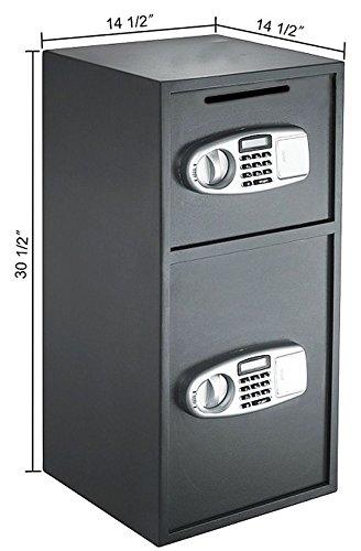 MRT SUPPLY Digital Double Door Safe Depository Drop Box Gun Safes Cash Office Security Lock with Ebook