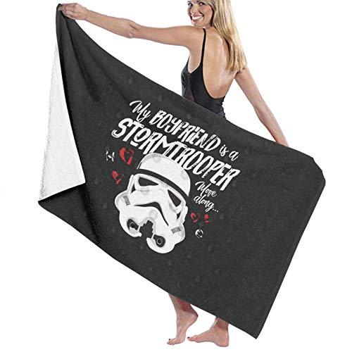 U/K Toalla de baño My Boyfriend Is A Stormtrooper de secado rápido