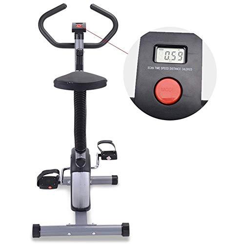 Wghz Bicicleta estática Plegable, Equipo de musculación estacionaria Gimnasio Pantalla LED Bicicleta Fitness Bicicleta estática Inicio Ciclismo en Interiores