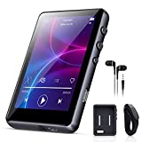 32GB MP3 Player with Bluetooth 5.0, 2.4-inch Full Touch Screen Music Player, high-Fidelity Lossless Sound, FM Radio, line Recording, AB Repeat Function, Built-in Speaker, Support TF Card up to 128GB