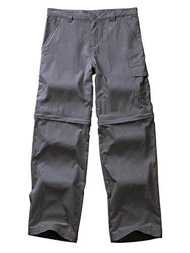 Boys Casual Outdoor Quick Dry Waterproof Hiking Climbing Convertible Trousers Kids Cargo Pants