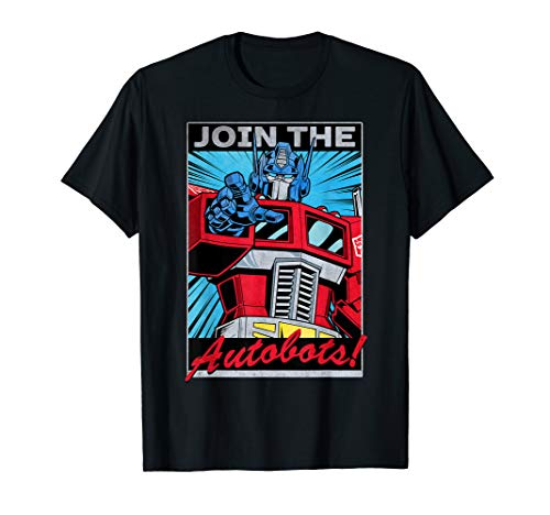 Transformers Optimus Prime Join The Autobots Poster T-Shirt