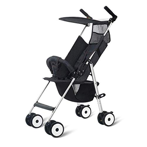 Great Price! N/ A Baby Stroller Ultra-Lightweight Easy Folding High Landscape Baby Stroller Can Sit ...
