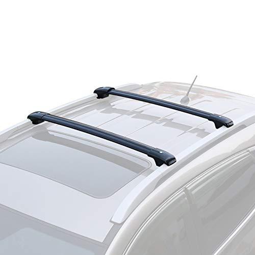 OLDF Equipajes de Techo Barras de Rack, vagón de Coche Universal de Aluminio SUV en la Parte Superior Estante de la Cruz Barras portaequipajes,Silver,Chevrolet