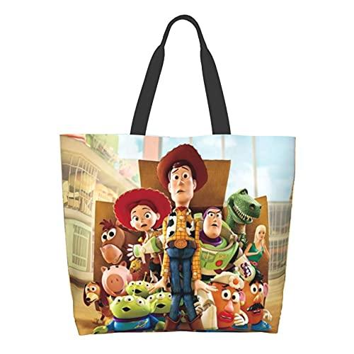 Toy Story - Bolsa de hombro para ordenador portátil, gran capacidad multiusos