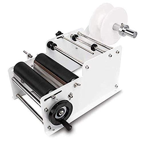 Máquina de etiquetado de la botella redonda de SUSEMSE, máquina de etiquetado manual semiautomática ajustable para latas y botellas MT-30 blanco