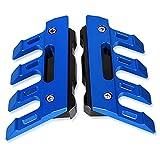 Accesorios de motocicleta para KYMCO AK550 XCITING 250 300 400 500 motocicleta CNC guardabarros de aluminio protección lateral bloque delantero Fender deslizante anticaída (Color: Azul)