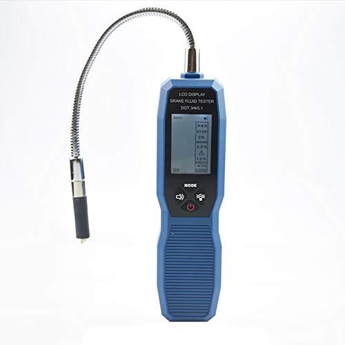 FEENNG Bremsflüssigkeitstester Bremsflüssigkeitsprüfer Brake Fluid Tester Bremsflüssigkeitsprüfgerät Ölüberprüfung 250 mm Schwanenhalsdetektor LCD für DOT3 DOT4 DOT5