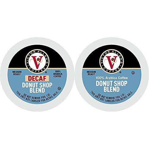Decaf Donut Shop Blend for K-Cup Keurig 2.0 Brewers, 80 Count, Victor Allen's Coffee Medium Roast Single Serve Coffee Pods & Donut Shop Blend for K-Cup® Keurig 2.0® Brewers, 42 Count