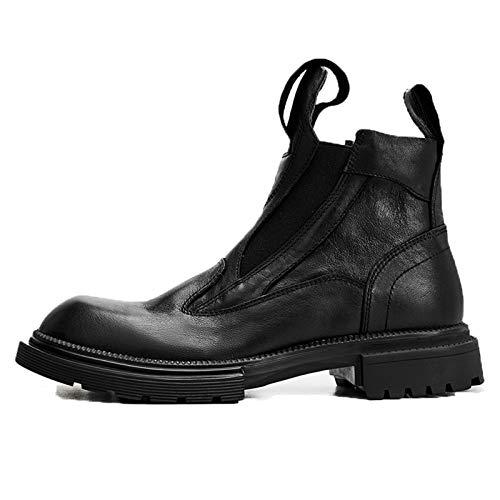 ZJHTK Hombre para Calzado Botas Botines Zapatos Casuales Moda Calentitas Cómodas Antideslizantes Trabajo Botas,Negro,43