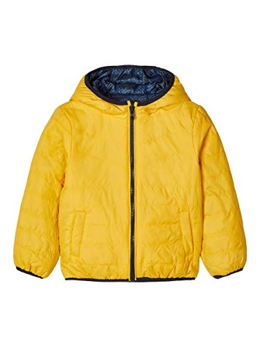 NAME IT Herren Wattierte Jacke Wendbare leichte 110Golden Rod