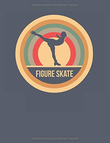 Figure Skate: Retro Vintage Eiskunstlauf Punktraster Notizbuch A4 Punktiert 108 Seiten Notizheft - Geschenk für Eiskunstläufer