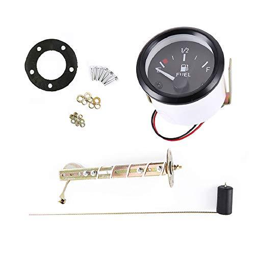 LED-Tankanzeige,Auto- und Motorrad-Modifiziertes Instrument 52 mm Universal-Auto-Kraftstoffstandsanzeige LED Digital E-1/2-F-Entfernungsmesser