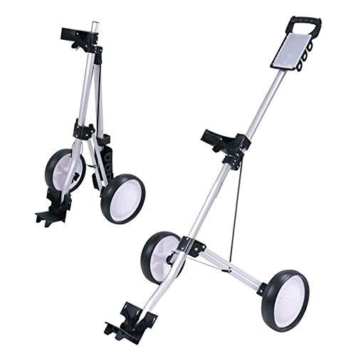HYDL Golf Push Cart Golftrolley 2 Rad, Superlite Deluxe, leicht, einfach zu faltender Caddy Cart Pushcart, Klappbar/zusammenklappbar - aus Aluminium - für Golftaschen/Golf