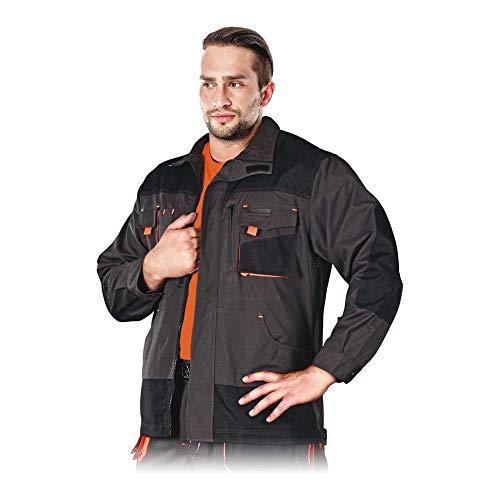 Lever&Hollman LH-FMN-J_SBPS vormen beschermende blouse, staalblauw-zwart-oranje, maat S