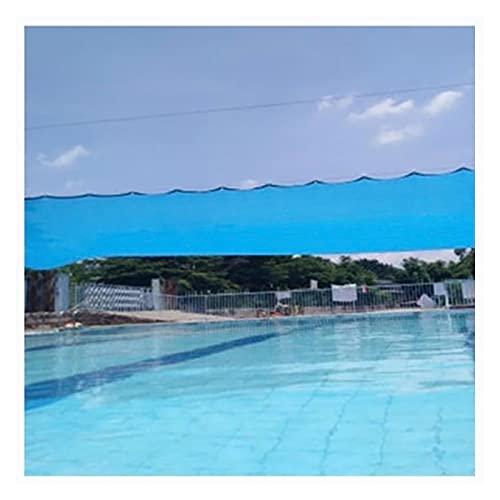 Telas para Toldos Piscina Azul Sun Malla Sombreadora, Toldo De Vela De Sombra Al Aire Libre con 85% De Tasa De Sombreado, Utilizado para Jardín, Invernadero, Terraza, Césped (Size : 4X6M)