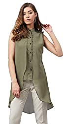 POISON IVY Womens Casual Chiffon Layered Sleeveless Elegant High-Low Top