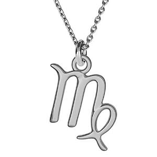 Beforia Paris* collana – segno zodiacale – Vergine – con catena in argento 925 con ciondolo Swarovski® Elements, regalo, collana con custodia PIN/75