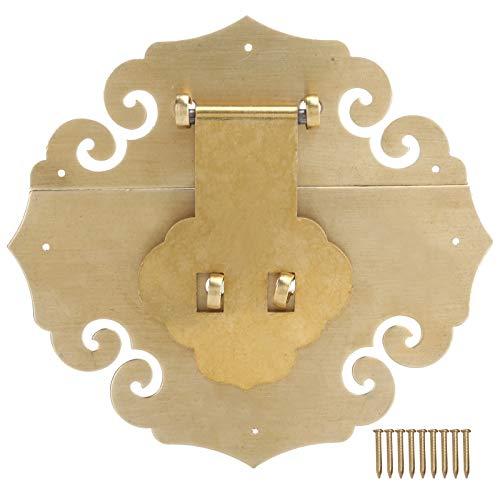Asixxsix Cerrojo de Caja, Cerrojo de Cerrojo Estilo de latón Antiguo Sujetador de herrajes para Muebles Chinos, para gabinete, Cajas de joyería para el hogar