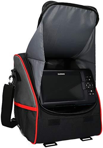 Mikado Fishfinder Cover, tas voor echolote, ideaal voor het opbergen van meteoloten van 7 inch, accu en kabel, slijtvast materiaal
