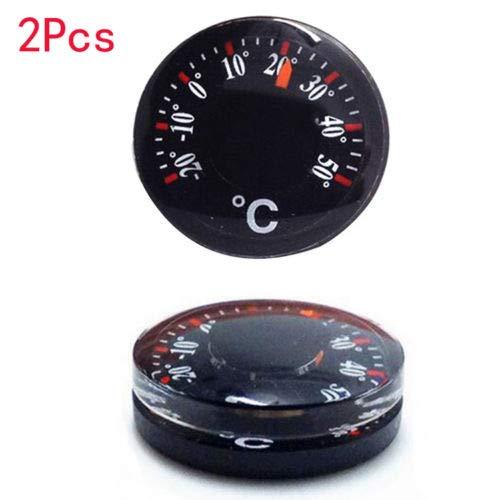 DIAMOEN 2ST Mini tragbare Runde Zeiger Thermometer Temperaturmessgerät Sensor 20mm