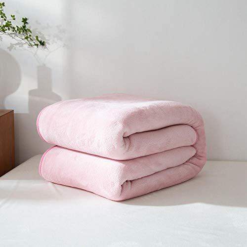 Amosiwallart Mantas para Sofa, Mantas para Cama, Manta de Microfibra 100% Supersuave - Fácil De Cuidar- Ligera, Cálida, Cómoda Y Duradera -Rosado_El 1.0 * 1.2m
