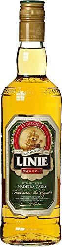 LINIE Aquavit Double Cask Madeira - Zweifach Fassgelagerter Aquavit aus Norwegen - Reifung in Sherry- und Madeira-Fässern 0,7 l | Vol. 41,5%