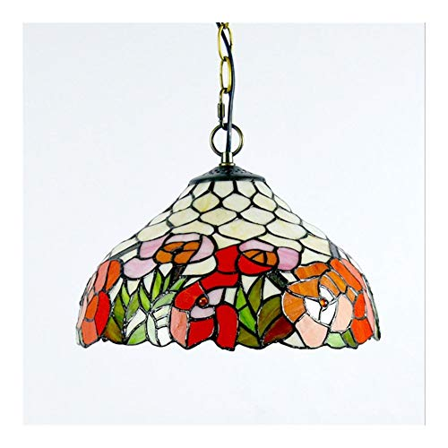 Iluminación Sunny Style Floral 1-Light Techo Colgante con Accesorio con Shade LHJ-DD1618028 Lámparas para dormitorios Lámpara de Noche
