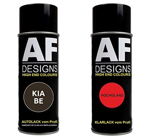 Autolack Spraydose Set für KIA BE Dark Gun Metal Metallic Basislack Klarlack Sprühdose 400ml