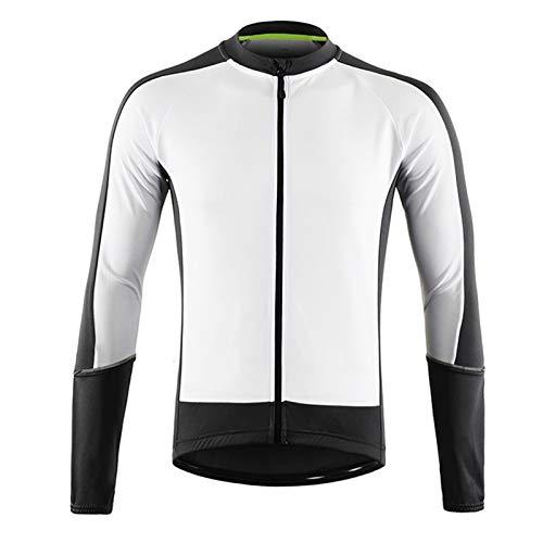 Camiseta Ciclismo MTB,Verano Maillot Ciclismo Hombre Camiseta Ciclismo Manga Larga,Ultralight Transpirable MTB Camisa,para Deportes y al Aire Libre Ropa Bicicleta(Size:SG,Color:Blanco)