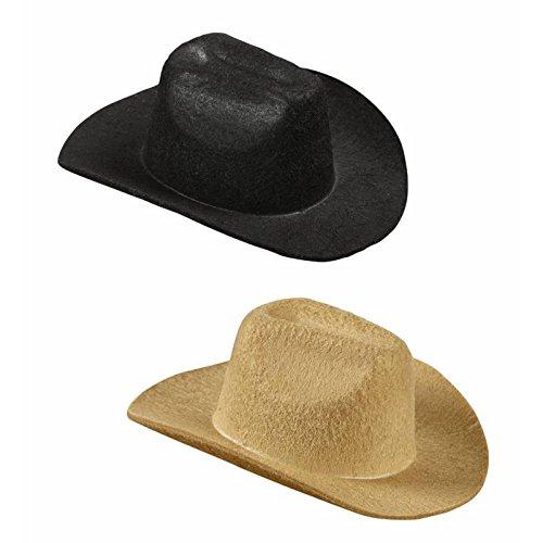 Widmann MINI COWBOY HAT black & beige asstd