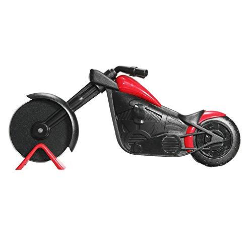 GuDoQi Pizzaschneider Motorrad, Kreatives Edelstahl Pizzaroller, Antihaftbeschichtung, Küchengerät Schöne Geschenke (21,5cm)