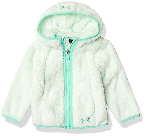 Under Armour Baby Girls' UA Cozy Fleece Hoodie, Sea Glass Blue, 24M