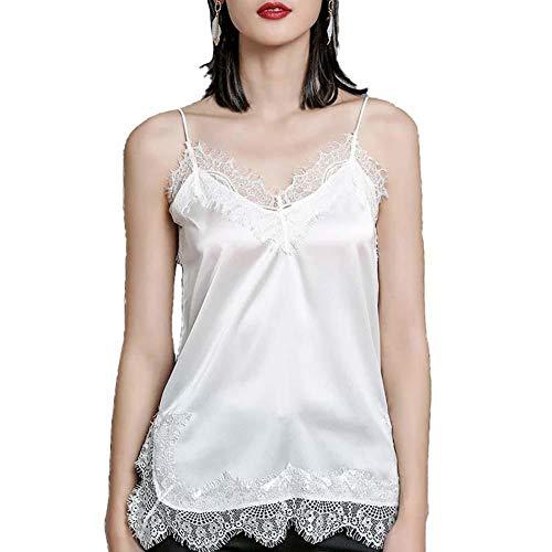 jingyuu Sommer T-Shirt Unterhemd Spitze Weste Frauen Spitze Sexy Halter Weste Fashion Camisole Ärmelloses