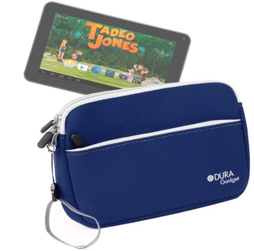DURAGADGET Funda Azul De Neopreno para Tablet Bluesens Tadeo Jones