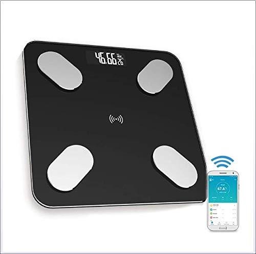 Gymy Bluetooth inteligente báscula de peso electrónica de salud corporal de la grasa báscula de carga de la aplicación de la báscula