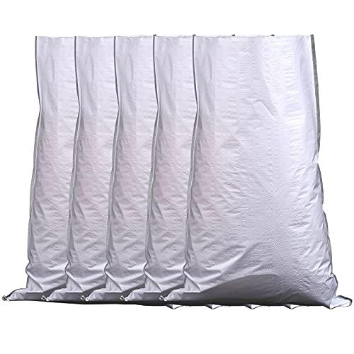 Sandsäcke Für Hochwasser Hochwassersack Wasserdicht und langlebig Hochwasserschutz Flooding Sandbag Protection Packaging Bags Für Zum Befüllen Weißer Kunststoff Plastic...