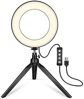 Gesh Licht 15.24cm/6 Inch LED Lamp Fotografie Selfie Licht met Statief voor Youtube Live Make-up Live