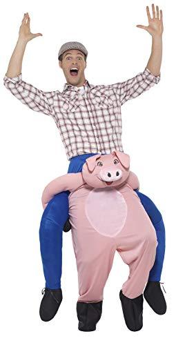 Smiffys Costumedos de cochon, Rose, Combinaison une pièceavec fausses jambes