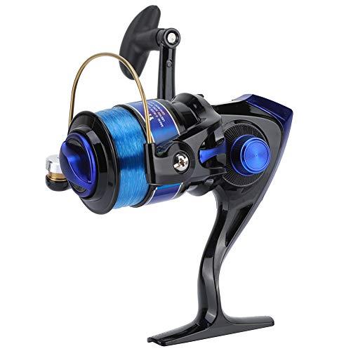 Keenso Fishing Reel,Plastic Spinning Plating Head 12BB for Fresh/Salt Water Sea Fishing Wheel YF Series Fishing Reel(7000-Black)