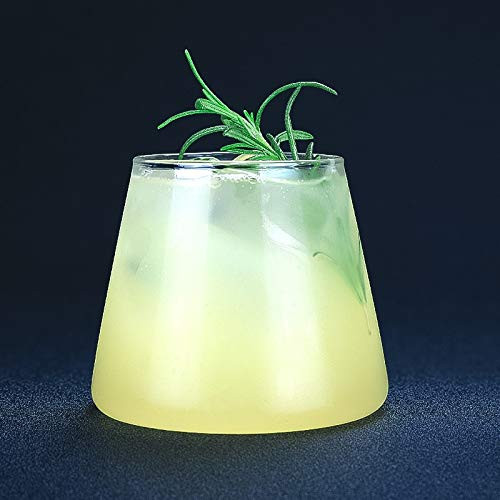 Xacxl Broma de la montaña MT de Vidrio cóctel Taza de Cerveza BarGlass Bebida de la Taza de Cristal de Cristal Copa Plana
